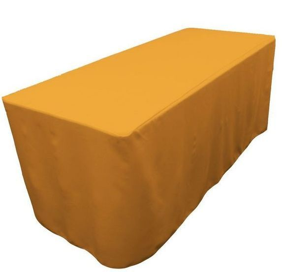 5' Ft Fitted Polyester Tablecloth Open Back Tablecover Trade Show Booth 18 Color
