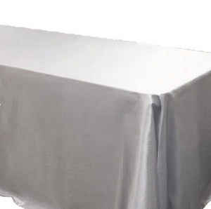 "12 Pack 60x120"" Rectangle Satin Tablecloth Wedding Seamless Catering Table Cover"""