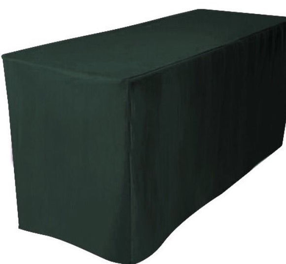 8' Ft. Fitted Polyester Table Cover Trade Show Booth Dj Tablecloth Hunter Green