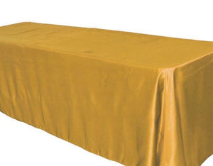 "15 Pack 60x120"" Rectangular Satin Tablecloth Wedding Party Catering Table Cover"""