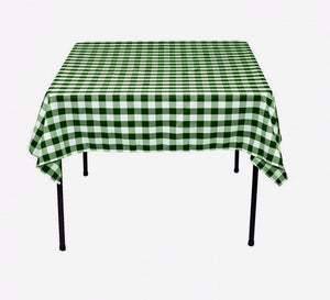 "25 pack 54"" x 54"" Square Overlay checkered Tablecloth100% polyester Restaurant"""