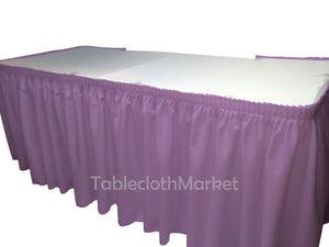 17' Ft. Polyester Pleated Table Set Skirt Skirting Trade Show 24 Colors Catering""