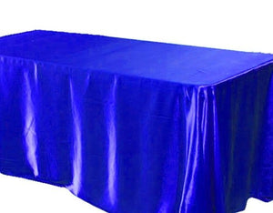 "15 pack 90x132"" Rectangular Satin Tablecloth Wedding Party Catering"""