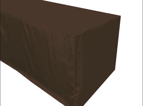 6' Ft. Fitted Polyester Tablecloth Trade Show Booth Banquet Dj Table Cover Brown