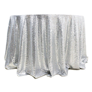 "5 pack 120"" Round Sequin Sparkly Design Shiny Tablecloth Table Cover 4 COLORS"""