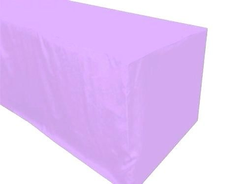 6' Ft. Fitted Polyester Tablecloth Wedding Banquet Event Table Cover Lavender