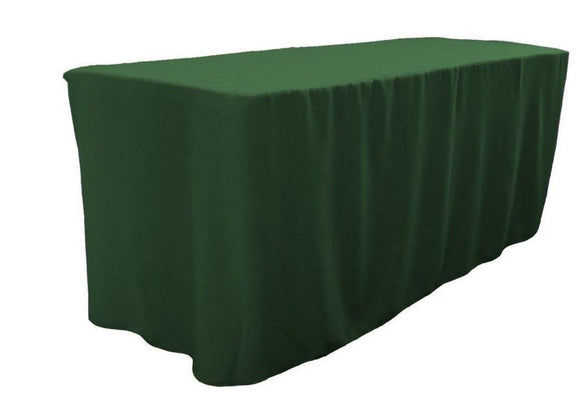 4' Ft. Fitted Polyester Table Cover Trade Show Booth Dj Tablecloth Hunter Green