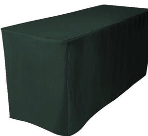 8' Ft. Fitted Polyester Table Cover Trade Show Booth Dj Tablecloth Hunter Green""
