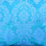 "Aqua Blue Grey Flocking Damask Taffeta Velvet Fabric 58"" Decor 3d"""
