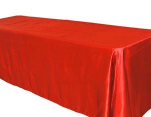 "5 Pack 90x156"" Rectangular Satin Tablecloth Wedding Party Catering"""