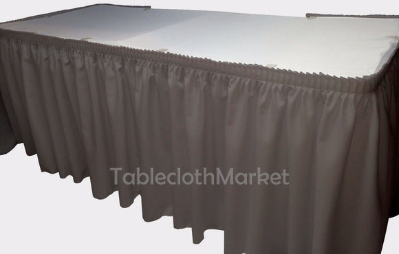 21' Ft. Polyester Pleated Table Set Skirt Skirting  Trade Show 24 Colors