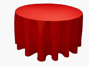 "5 Pack 132"" Inch Round Polyester Tablecloth 24 Color Table Cover Wedding Banquet"""