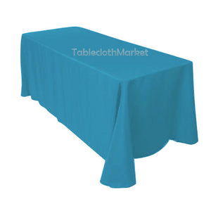 "10 Pack 90""×132"" Tablecloths 100% Polyester 25 Colors Wholesale Wedding Catering"""