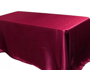 "10 Pack 60x120"" Rectangle Satin Tablecloth Wedding Seamless Catering Table Cover"""