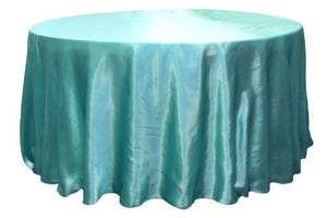 "30 Pack 120"" Inch Round Satin Tablecloth 21 Colors Table Cover Wedding Banquet"""