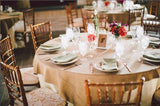 "Burlap Overlay 72"" × 72"" 100% Natural Jute Tablecloths Table Covers Wedding Big"""
