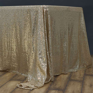 "90 X 156"" Rectangular Sequin Sparkly Tablecloth Table Cover 4 Colors Wedding"""