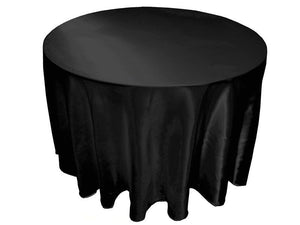 "5 Pack 132"" Inch Round Satin Tablecloth 21 Colors Table Cover Wedding Banquet"""