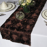 Rosette Satin Table Runner Ribbon 3D Rose Spiral Wedding Party Table decoration""