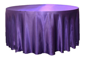 "12 Pack 120"" Inch Round Satin Tablecloth 21 Colors Table Cover Wedding Banquet"""