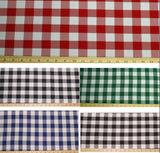 6' ft. Fitted Checkered Polyester Tablecloth Table Cover ANY COLOR COMBINATION""
