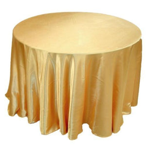 "15 Pack 120"" Inch Round Satin Tablecloth 21 Colors Table Cover Wedding Banquet"""