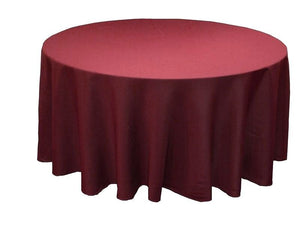 "12 Pack 132"" Inch Round Polyester Tablecloth 24 Color Table Cover Wedding Party"""