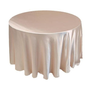 "12 Pack 132"" Inch Round Satin Tablecloth 21 Colors Table Cover Wedding Banquet"""