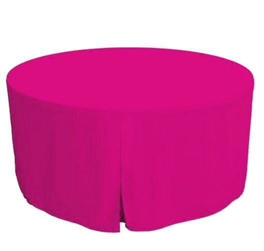 48 Inch Round Polyester Foldable Table Cover Tablecloth Trade Show 18 Color