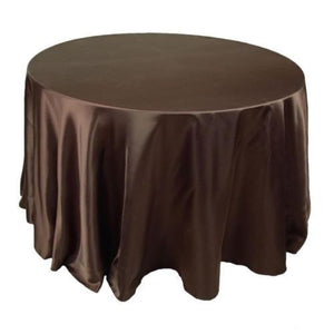 "5 Pack 120"" Inch Round Satin Tablecloth 21 Colors Table Cover Wedding Banquet"""