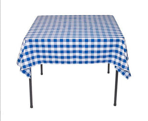 "5 pack 54"" x 54"" Square Overlay checkered Tablecloth 100% polyester Restaurant"""