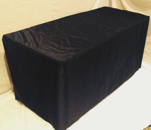 6' Ft. Fitted Waterproof Table Cover Patio Outdoor Indoor Wet Bar Black""
