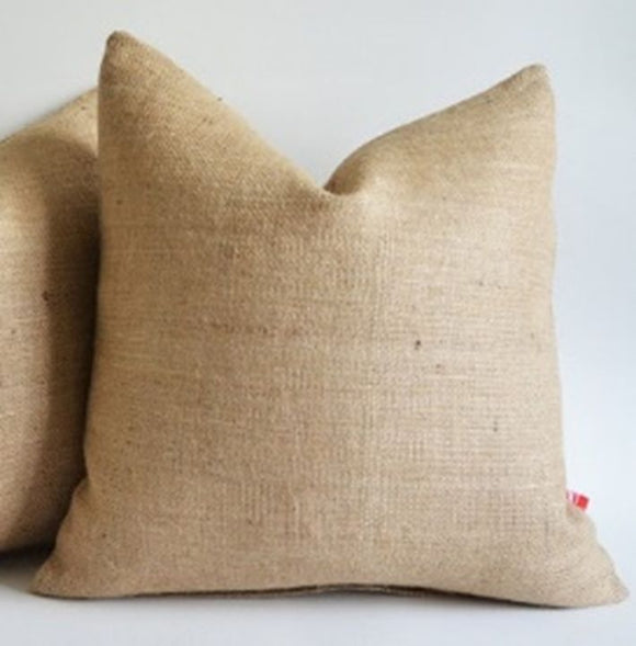 Burlap Pillow Cover 20 X 20 Inches Inch Rustic Decor
