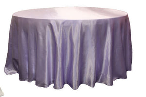 "24 Pack 120"" Inch Round Satin Tablecloth 21 Colors Table Cover Wedding Banquet"""