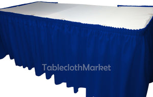 14' Ft Royal Blue Polyester Pleated Table Skirt Skirting  Show Catering Dj""