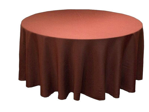 120 Inch Round Polyester Tablecloth 24 Color Table Cover Wedding Catering Party