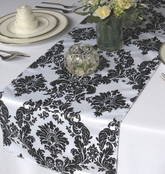 5 Pack Flocked Taffeta Damask 12