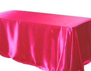 "10 Pack 90x132"" Rectangular Satin Tablecloth Wedding Party Catering"""