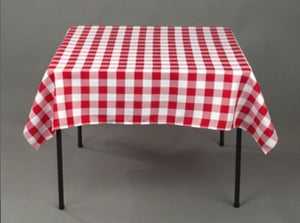 "12 pack 54"" x 54"" Square Overlay checkered Tablecloth 100% polyester Restaurant"""