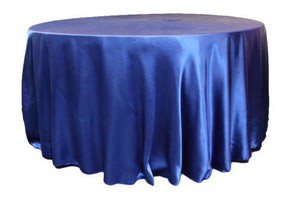 "10 Pack 120"" Inch Round Satin Tablecloth 21 Colors Table Cover Wedding Banquet"""