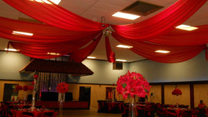 10 ft x 21 ft Ceiling Draping Sheer Voile Chiffon Ceiling Drape Panel Wedding ""