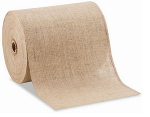 12 Inch Wide 100 Yards Roll 10 Oz Hemmed Jute Burlap Home Decor ( Surged Edges )""