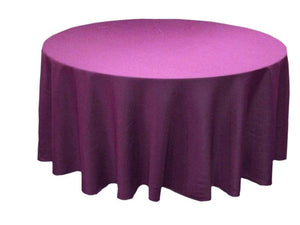 "5 Pack 120"" Inch Round Polyester Tablecloth 24 Color Table Cover Wedding Banquet"""