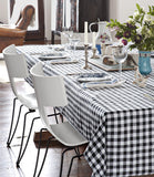 "12 x Checkered Tablecloths 60""— 126"" Rectangular Gingham 100% polyester 4 COLORS"""