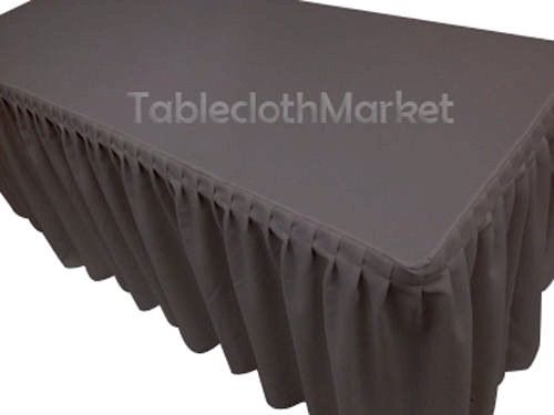 5' Fitted Polyester SINGLE Pleated Table Skirting Cover w/Top Topper 24 COLORS