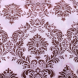 "10 Pack Flocked Taffeta Damask 12"" X 108"" Top Table Runner 16 Colors Wedding"""