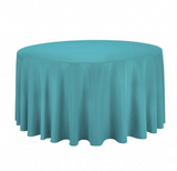"132"" Inch Round Polyester Tablecloth 24 Color Table Cover Wedding Banquet"""
