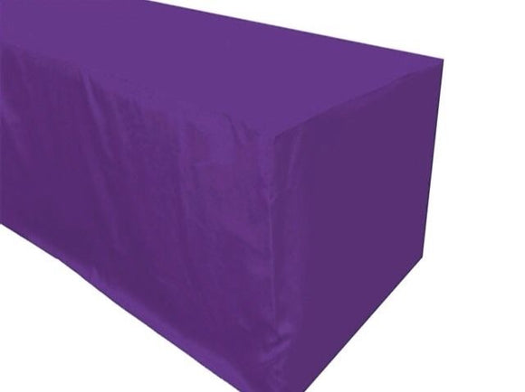 8' Ft. Fitted Polyester Tablecloth Trade Show Booth Wedding Table Cover Purple