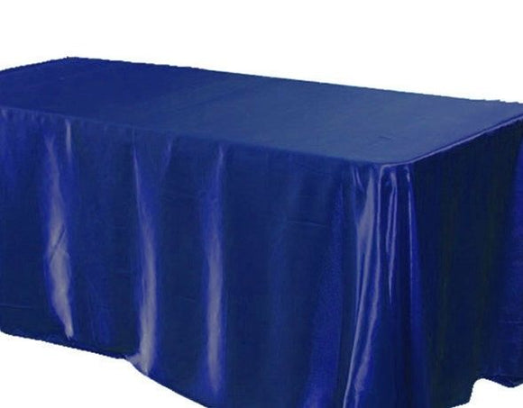 90 X 132 Inch Rectangular Satin Tablecloth Wedding Party Catering Shiny