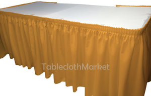Polyester Pleated Table Set Skirt Skirting Catering Trade Show Dj Set Up Kit""